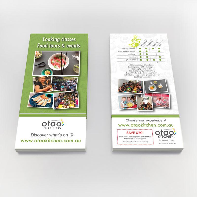 dl brochure design for otao kitchen